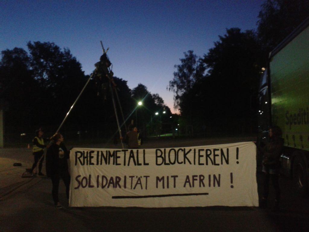 Protest gegen Rheinmetall, 8.5.18