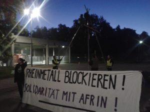 Protest gegen Rehinmetall, 8.5.18