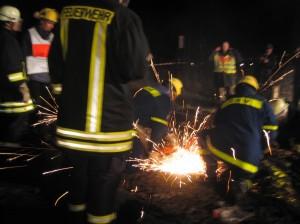 Die Räumung durch die Feuerwehr