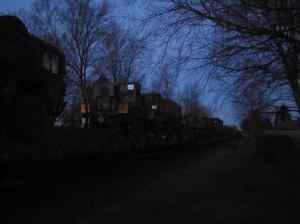 Der blockierte Bundeswehrtransportzug