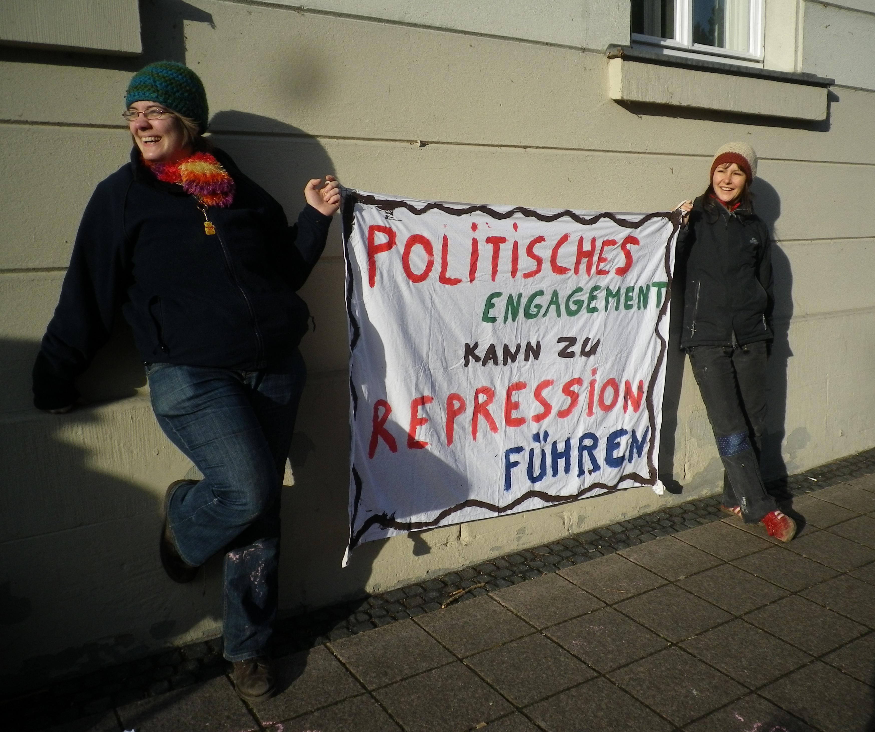 poltisches engagement kann zu Repression führen